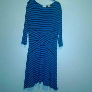 EUC Blue on Blue stripped dress sz. XL